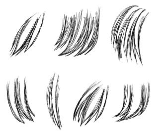 新ペン先で描いた髪