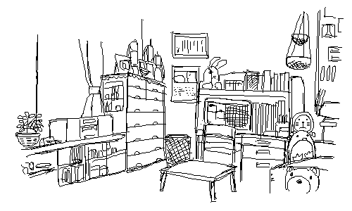 4巻の美琴の部屋