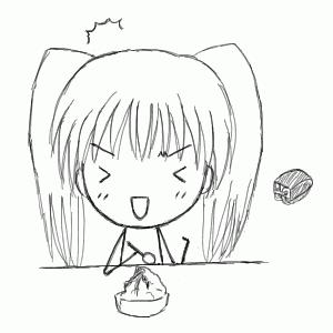 カキ氷をバクバク食べすぎで頭がスギーンときてる女の子