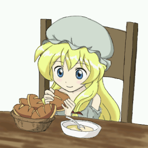 食事中のコゼット(レ・ミゼラブル 少女コゼット)
