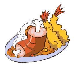 肉エビフライカレー