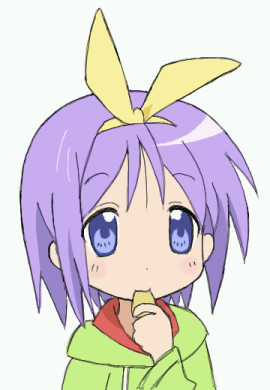 お菓子を食べる柊つかさ(らき☆すた)
